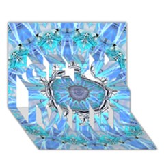 Sapphire Ice Flame, Light Bright Crystal Wheel Get Well 3d Greeting Card (7x5)  by DianeClancy