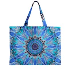 Sapphire Ice Flame, Light Bright Crystal Wheel Zipper Mini Tote Bag by DianeClancy