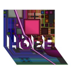 Jewel City, Radiant Rainbow Abstract Urban Hope 3d Greeting Card (7x5)  by DianeClancy