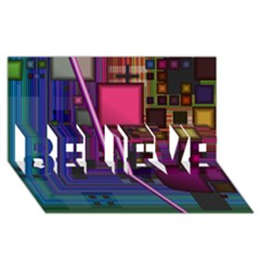 Jewel City, Radiant Rainbow Abstract Urban Believe 3d Greeting Card (8x4)  by DianeClancy