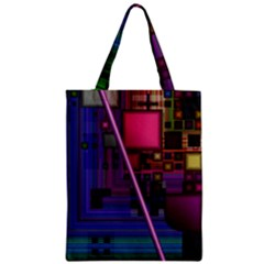 Jewel City, Radiant Rainbow Abstract Urban Classic Tote Bag by DianeClancy