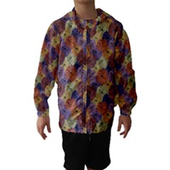 Vintage Floral Collage Print Hooded Wind Breaker (kids)
