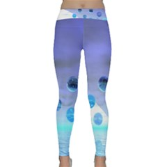 Moonlight Wonder, Abstract Journey To The Unknown Yoga Leggings by DianeClancy