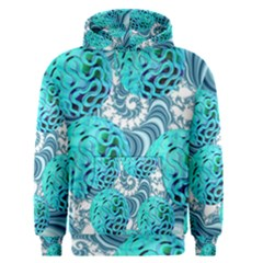 Teal Sea Forest, Abstract Underwater Ocean Men s Pullover Hoodie by DianeClancy