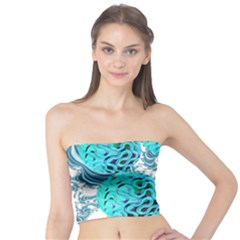 Teal Sea Forest, Abstract Underwater Ocean Tube Top by DianeClancy