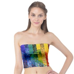Conundrum I, Abstract Rainbow Woman Goddess  Tube Top by DianeClancy