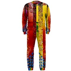Conundrum I, Abstract Rainbow Woman Goddess  Onepiece Jumpsuit (men)  by DianeClancy