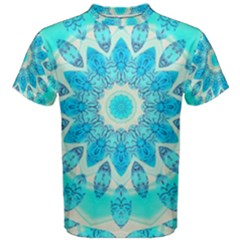 Blue Ice Goddess, Abstract Crystals Of Love Men s Cotton Tee