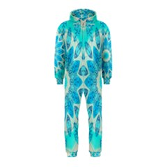 Blue Ice Goddess, Abstract Crystals Of Love Hooded Jumpsuit (kids) by DianeClancy