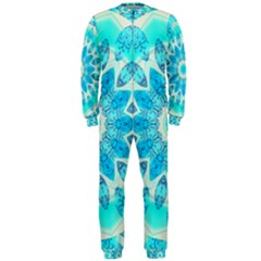 Blue Ice Goddess, Abstract Crystals Of Love Onepiece Jumpsuit (men)  by DianeClancy
