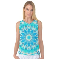 Blue Ice Goddess, Abstract Crystals Of Love Women s Basketball Tank Top
