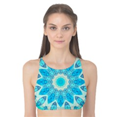Blue Ice Goddess, Abstract Crystals Of Love Tank Bikini Top
