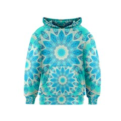 Blue Ice Goddess, Abstract Crystals Of Love Kids  Pullover Hoodie