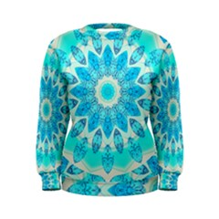 Blue Ice Goddess, Abstract Crystals Of Love Women s Sweatshirt