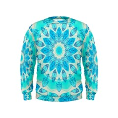 Blue Ice Goddess, Abstract Crystals Of Love Kids  Sweatshirt by DianeClancy