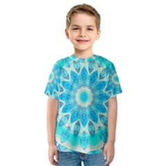 Blue Ice Goddess, Abstract Crystals Of Love Kid s Sport Mesh Tee