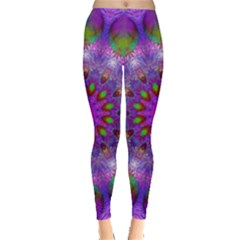 Rainbow At Dusk, Abstract Star Of Light Leggings  by DianeClancy