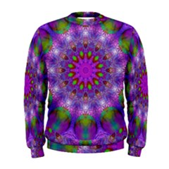 Rainbow At Dusk, Abstract Star Of Light Men s Sweatshirt by DianeClancy
