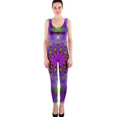Rainbow At Dusk, Abstract Star Of Light Onepiece Catsuit by DianeClancy