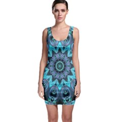 Star Connection, Abstract Cosmic Constellation Sleeveless Bodycon Dress by DianeClancy