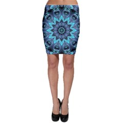 Star Connection, Abstract Cosmic Constellation Bodycon Skirts