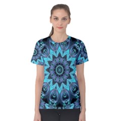 Star Connection, Abstract Cosmic Constellation Women s Cotton Tee