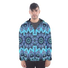 Star Connection, Abstract Cosmic Constellation Hooded Wind Breaker (men)