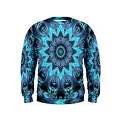 Star Connection, Abstract Cosmic Constellation Kids  Sweatshirt
