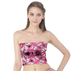 Twirling Pink, Abstract Candy Lace Jewels Mandala  Tube Top