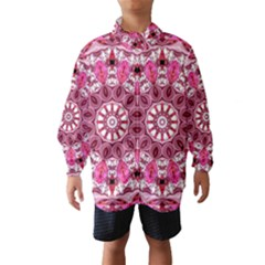 Twirling Pink, Abstract Candy Lace Jewels Mandala  Wind Breaker (kids)