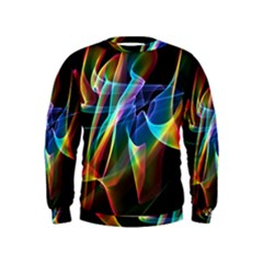 Aurora Ribbons, Abstract Rainbow Veils  Kids  Sweatshirt by DianeClancy
