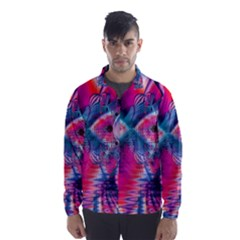 Cosmic Heart Of Fire, Abstract Crystal Palace Wind Breaker (men)