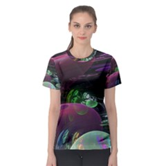 Creation Of The Rainbow Galaxy, Abstract Women s Sport Mesh Tee by DianeClancy