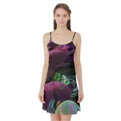 Creation Of The Rainbow Galaxy, Abstract Satin Night Slip by DianeClancy