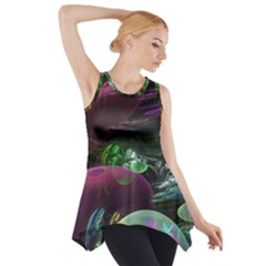 Creation Of The Rainbow Galaxy, Abstract Side Drop Tank Tunic by DianeClancy