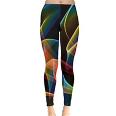 Crystal Rainbow, Abstract Winds Of Love  Leggings  by DianeClancy