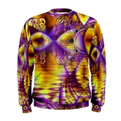 Golden Violet Crystal Palace, Abstract Cosmic Explosion Men s Sweatshirt by DianeClancy