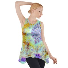 Golden Violet Sea Shells, Abstract Ocean Side Drop Tank Tunic by DianeClancy