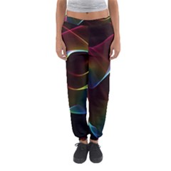 Imagine, Through The Abstract Rainbow Veil Women s Jogger Sweatpants by DianeClancy