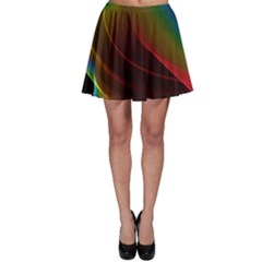 Liquid Rainbow, Abstract Wave Of Cosmic Energy  Skater Skirt by DianeClancy