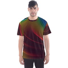 Liquid Rainbow, Abstract Wave Of Cosmic Energy  Men s Sport Mesh Tee by DianeClancy