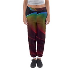 Liquid Rainbow, Abstract Wave Of Cosmic Energy  Women s Jogger Sweatpants by DianeClancy