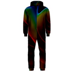 Liquid Rainbow, Abstract Wave Of Cosmic Energy  Hooded Jumpsuit (men)  by DianeClancy