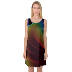 Liquid Rainbow, Abstract Wave Of Cosmic Energy  Sleeveless Satin Nightdress by DianeClancy