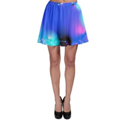 Love In Action, Pink, Purple, Blue Heartbeat 10000x7500 Skater Skirt by DianeClancy