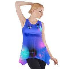 Love In Action, Pink, Purple, Blue Heartbeat 10000x7500 Side Drop Tank Tunic by DianeClancy