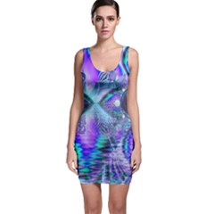 Peacock Crystal Palace Of Dreams, Abstract Sleeveless Bodycon Dress by DianeClancy