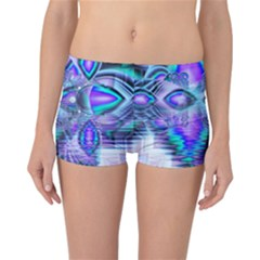 Peacock Crystal Palace Of Dreams, Abstract Reversible Boyleg Bikini Bottoms by DianeClancy