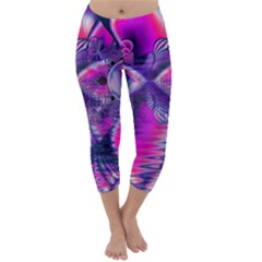 Rose Crystal Palace, Abstract Love Dream  Capri Winter Leggings  by DianeClancy