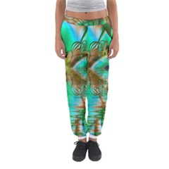 Spring Leaves, Abstract Crystal Flower Garden Women s Jogger Sweatpants by DianeClancy